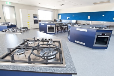 Photo of kitchen workstations in the Junior Kitchen.