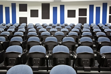 Photo of lecture theatre.