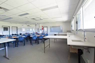 Photo of the Science labs.