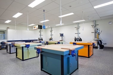 Photo of workareas in the Technology Workshops.